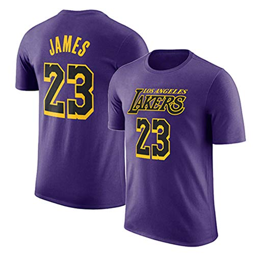 (KSITH T-Shirt NBA Lakers Short-Sleeved James #23 Jersey Half Sleeve Training Suit Fans Yellow)