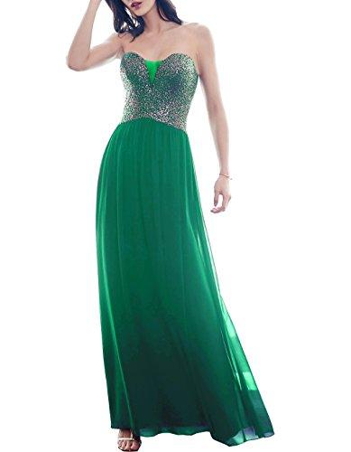 Beauté Paillettes Chérie De Mariée Bal Robes De Soirée Robe De Soirée Longue Pour Les Femmes L099 Vert