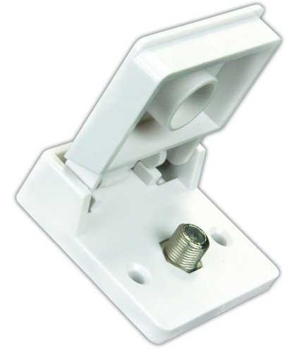 JR Products 47755 Polar White Exterior Weatherproof TV Jack (Quantity 3) by JR Products