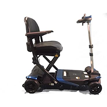 Enhance Mobility The Transformer Electric Folding Scooter 4-Wheel Blue
