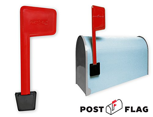 Universal Peel and Stick Replacement Mailbox Flag Replacement (No Tools Required, Fits Any Mail Box) - Replacement Flag Kit