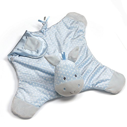 - Baby GUND Roly Polys Horse Comfy Cozy Blanket Stuffed Animal Plush Toy, Blue, 24