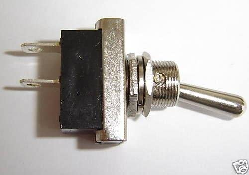 Chrome Replacment Rally On Off Metal Toggle Flick Switch 25Amp Heavy Duty 12V