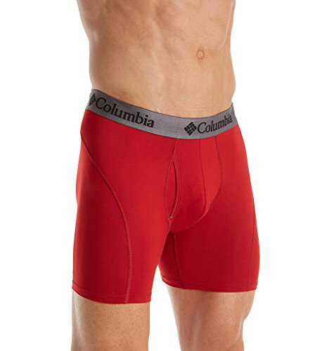 Columbia Boxers - Columbia Men's Brushed Micro Boxer Brief, Chili Pepper/Red, Small