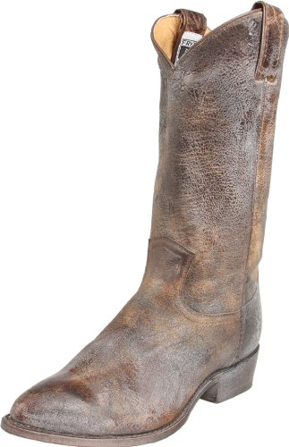 FRYE Women's Billy Pull-On Boot, Chocolate Glazed Vintage Leather, 8 M US