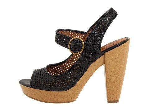 Chanceux Meli Open-toe Pompe Des Femmes Noires