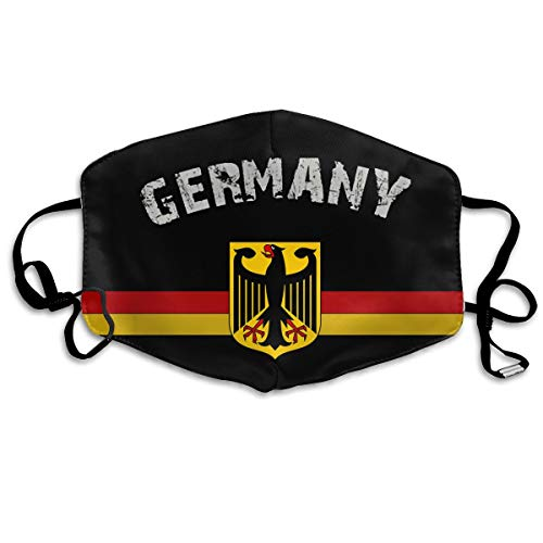 TONICCN Flag of Germany Emblem Unisex Facemask Earloop Mouth Muffle Reusable Mask for Men Women