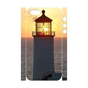 Cool Painting Lighthouse Brand New 3D Cover Case for Iphone 5,5S,diy case cover case545898
