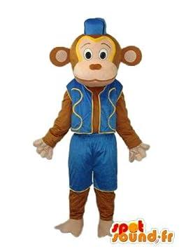 Abrigos azules monos Disfraz - Mascot SpotSound Amazon mono personalizable: Amazon.es: Juguetes y juegos