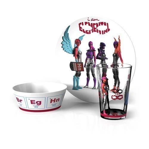 IAmElemental Bpa Free Melamine Children'S Tableware Set, (3 Piece Childs Tableware)