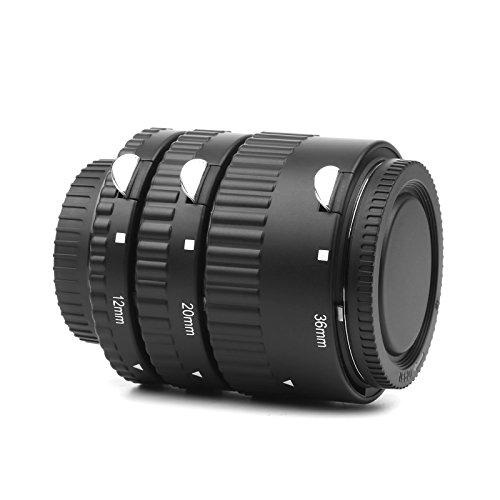(D&F AF Extension Tube Set 12mm,20mm,36mm Auto Focus Macro Tubes for Nikon D7200,D7100,D5300,D5200,D3300,D3200,D40,D40x,D300,D3,D3S)