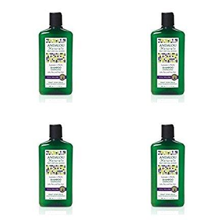 (4 PACK) - Andalou Lavender & Biotin Full Volume Shampoo | 340ml | 4 PACK - SUPER SAVER - SAVE MONEY (Andalou Lavender & Biotin Full Volume Shampoo)