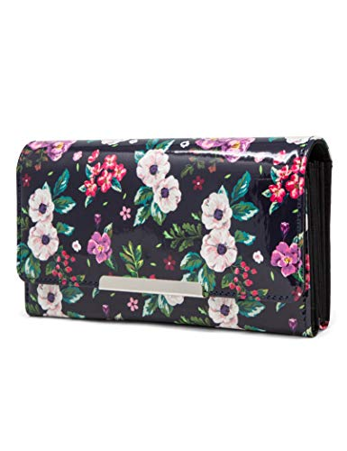 Mundi File Master Womens RFID Blocking Wallet Clutch Organizer With Change Pocket (One Size, Tea Time Floral)