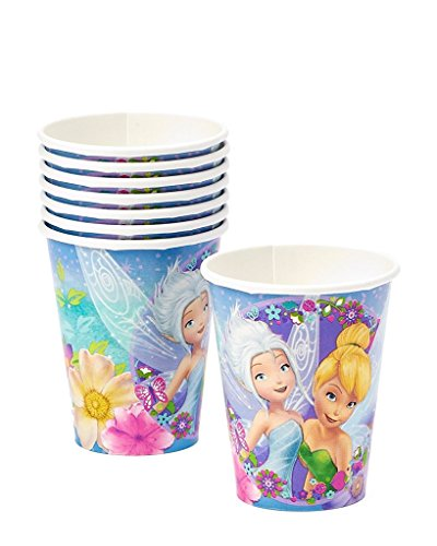 Disney Tinker Bell Fairies Birthday Party 9oz of 16x Paper Cup ~ Birthday Party Supplies Favors