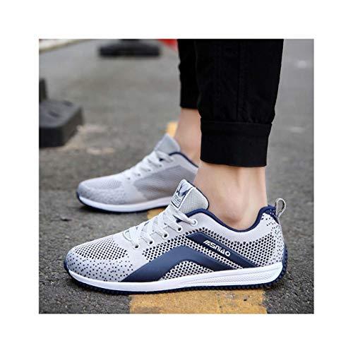 QQFLRB& Men Casual Shoes Breathable Summer Men Vulcanize Shoes Sneakers Men Outdoor Comfortable Jogging Shoes Dark Grey 7]()