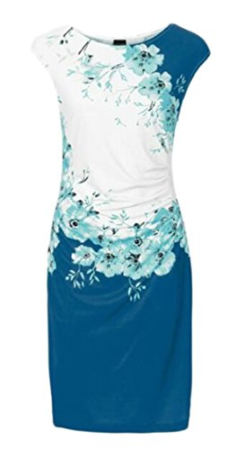 Womens Sexy Printed Sleeveless Jaycargogo Hip Dress Floral Package Bodycon 2 dqwvqTK4aB