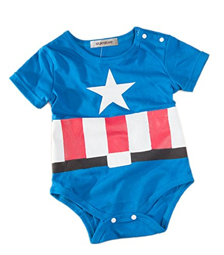 Super Heroes Baby Boy Costume Captain America