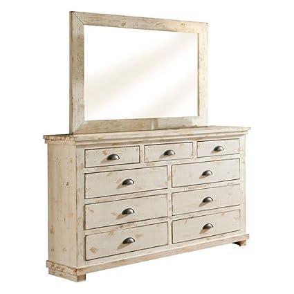 Progressive Furniture Willow Distressed Drawer Dresser, 66u0026quot; ...