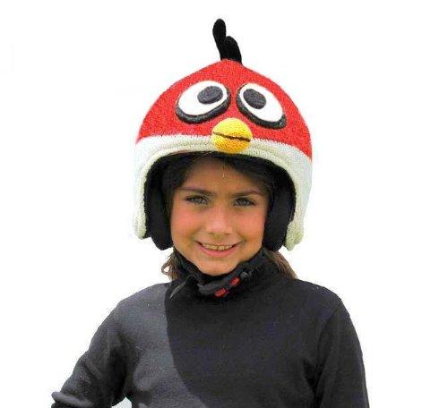 PINK YAK Ski Helmet Cover Fire Bird Angry Bird