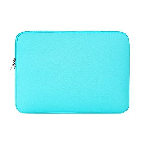 RAINYEAR-14-Inch-Soft-Neoprene-Laptop-Sleeve-Protective-Slim-Padded-Sleeve-Bag-Case-for-Macbook-Laptop-Computer-Tablet-Ultrabook-Of-DellHPLenovoAsusAcerSamsungWater-Blue
