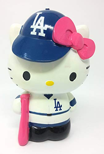 Los Angeles Dodgers Hello Kitty Resin Bank (Renewed)