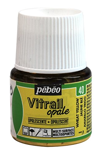 Pebeo Vitrail, Stained Glass Effect Paint, 45 ml Bottle - Wheat Yellow