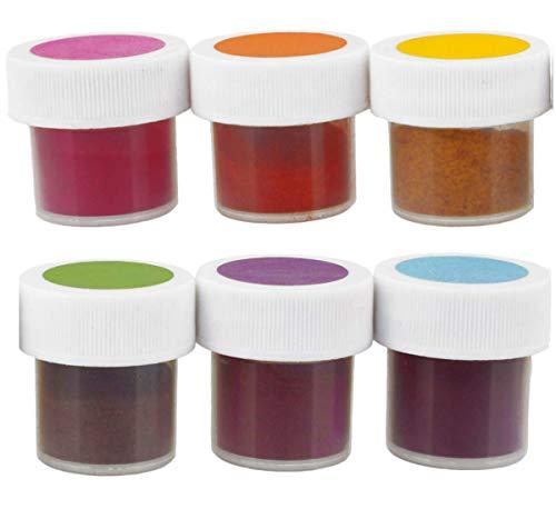TruColor 6-Color Easter Egg Decorating Colors Set - Natural Gel Paste Powder