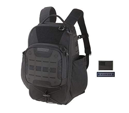 Maxpedition LITHVORE Backpack (BLACK) + FREE Warrior & Flag Patch