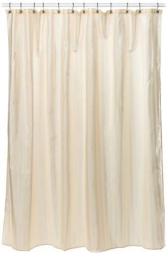 Croscill Fabric Shower Curtain Liner, 70-inch by 72-inch, Linen 3-Pack