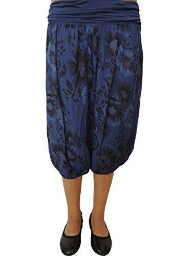 10 Farben zur Auswahl Größe 42-54 Kurze Damen Pumphosen Dunkelblau