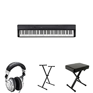 casio privia px160bk 88 key full size digital piano with behringer headphones on. Black Bedroom Furniture Sets. Home Design Ideas