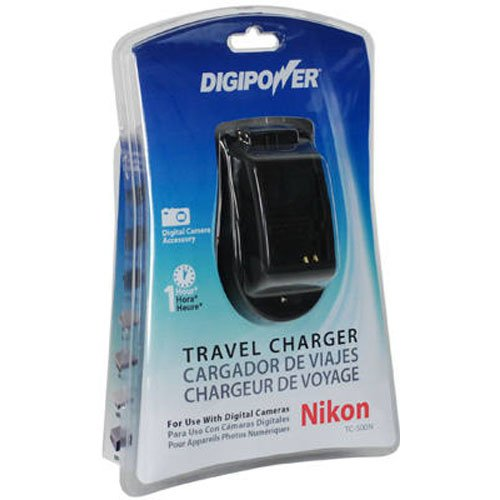 Digipower TC-500N Travel Charger for Nikon EN Series Batteries including EN-EL3e and EN-EL10