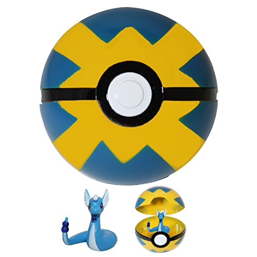 Price comparison product image DIYJewelryDepot Pokemon Go Pokeball Toys w / Assorted Mini Action Figures Anime Ball Toy Figurines (Quick)