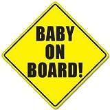 Aufkleber BABY ON BOARD baby safety sign car sticker 127mmx 127mm