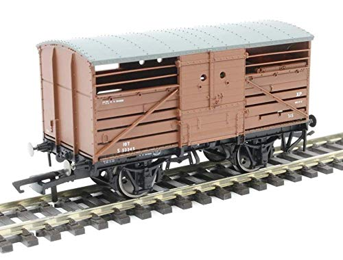 Hornby R6840 BR(Ex SR)'S52345′ 10T Bulleid Cattle Wagon Freight Car, Multi