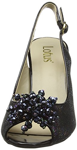 Black Lotus Clematis Multi Damen Pumps Blk q4Upxvw4