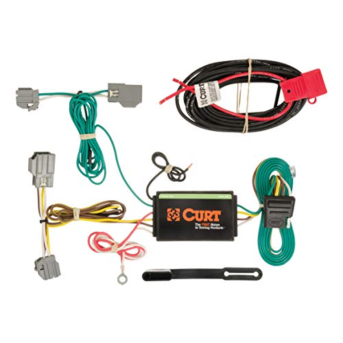 (CURT 56188 Vehicle-Side Custom 4-Pin Trailer Wiring Harness for Select Chevrolet Impala)