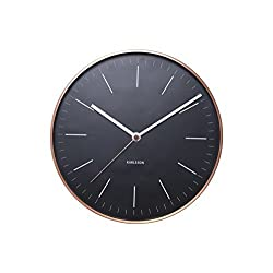 Karlsson Minimal Wall Clock with Copper Surround