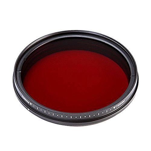 Fotga 58mm Six-in-One Adjustable Infrared IR Pass X-Ray Lens Filter 530nm to (Camcorder 52 Mm Lens)
