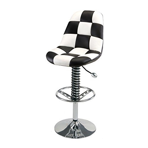 - Pitstop Furniture HR1300W White Pit Crew Bar Chair