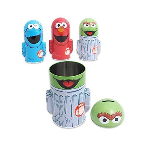 Set of 3 Sesame Street Assorted Molded Saving Banks Coin Banks by Sesame Street