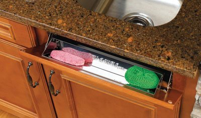 Rev-A-Shelf RS6581.16.5 SS 16 in. Stainless Steel Standard Series Tip Out Trays by Rev-A-Shelf
