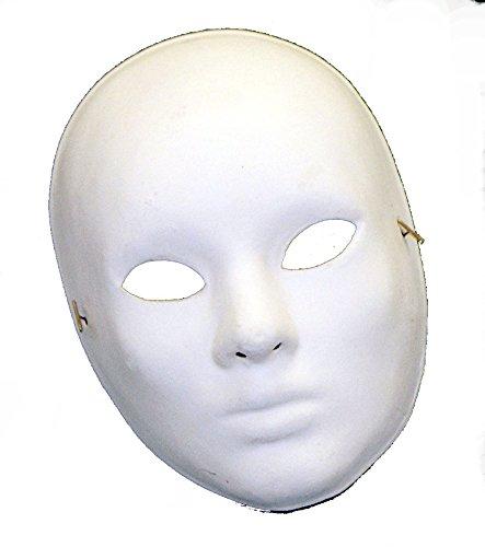 [B50508 Paper Mache Blank Drama Mask] (Drama Mask Costume)