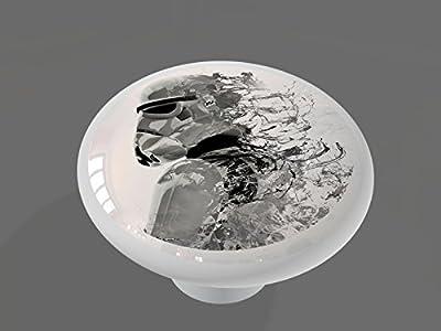 Storm Space Trooper High Gloss Ceramic Drawer Knob