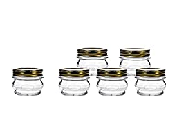 Amici Orto Canning Jars with Lids, 7.5 oz - Set of 6