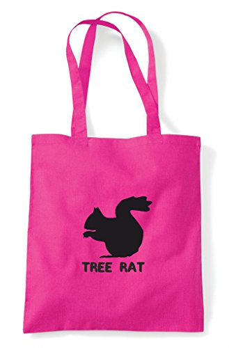 Names Shopper Tree Tote Bag Funny Rat Fuschia Themed Alternative Cute Squirrel Animal Z6nqRT