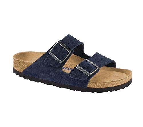 Birkenstock Women's Arizona SFB Soft Footbed Sandal Night Suede Size 41 N EU ()