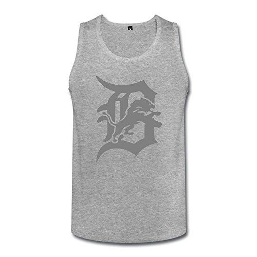 Men's Vest Detroit Baseball Team Logo Funny HeatherGray Size - Running Apparell