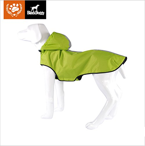 KINGSWELL Dog Jacket Waterproof Light weight Rain Coat for Large Medium Small Dogs with Hood and Reflective Strips(XXL) by KINGSWELL