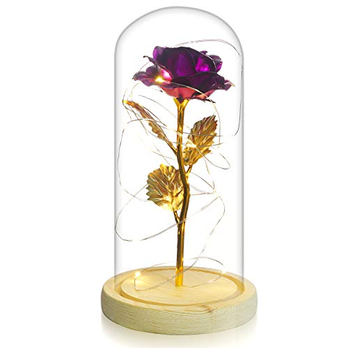 glass dome flower